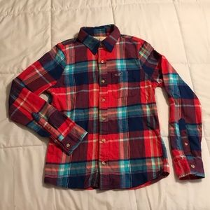 Hollister Bright & Heavy Flannel Button Down Shirt